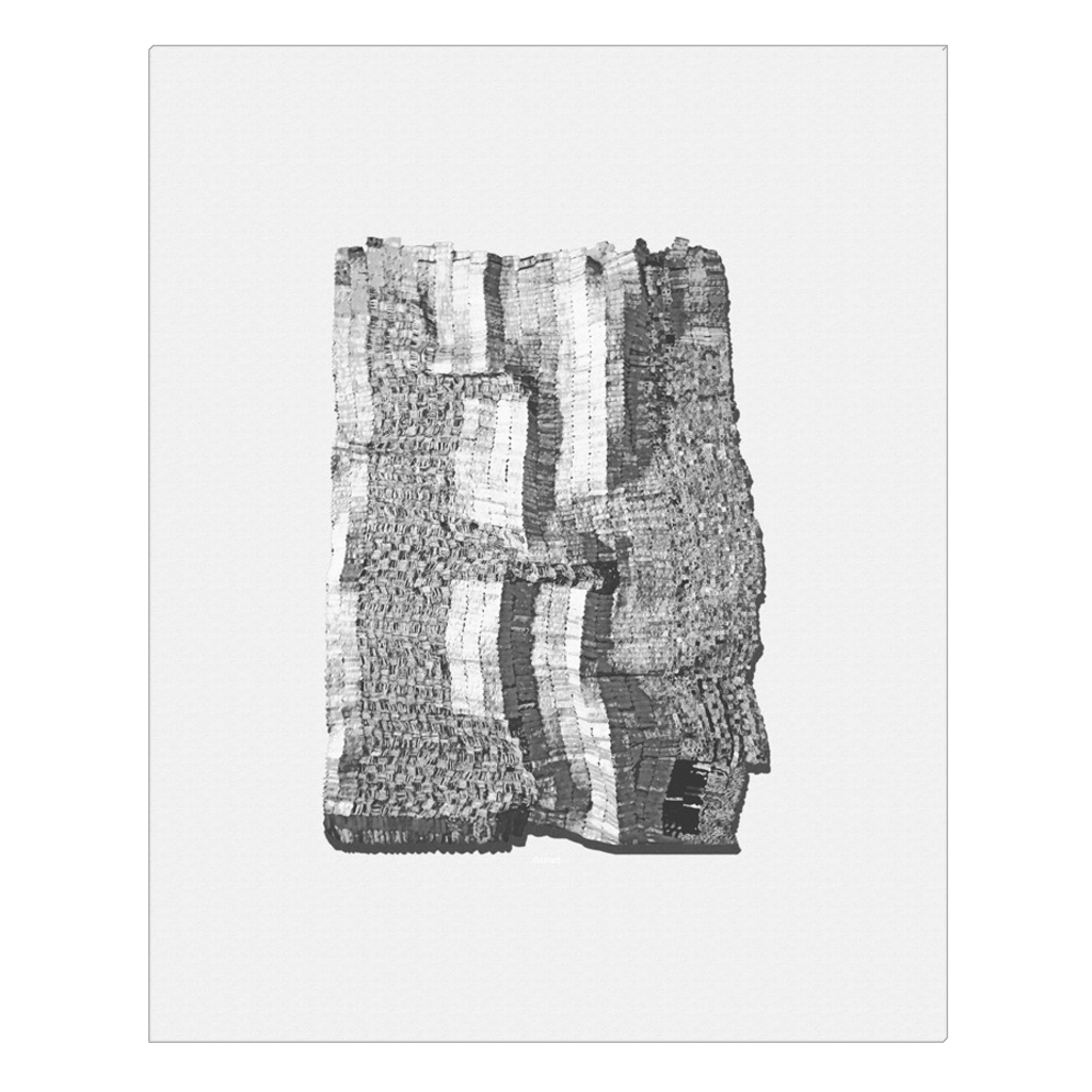 Grey Scale Tapestry - digital art, wall art, canvas wrap, ready to hang