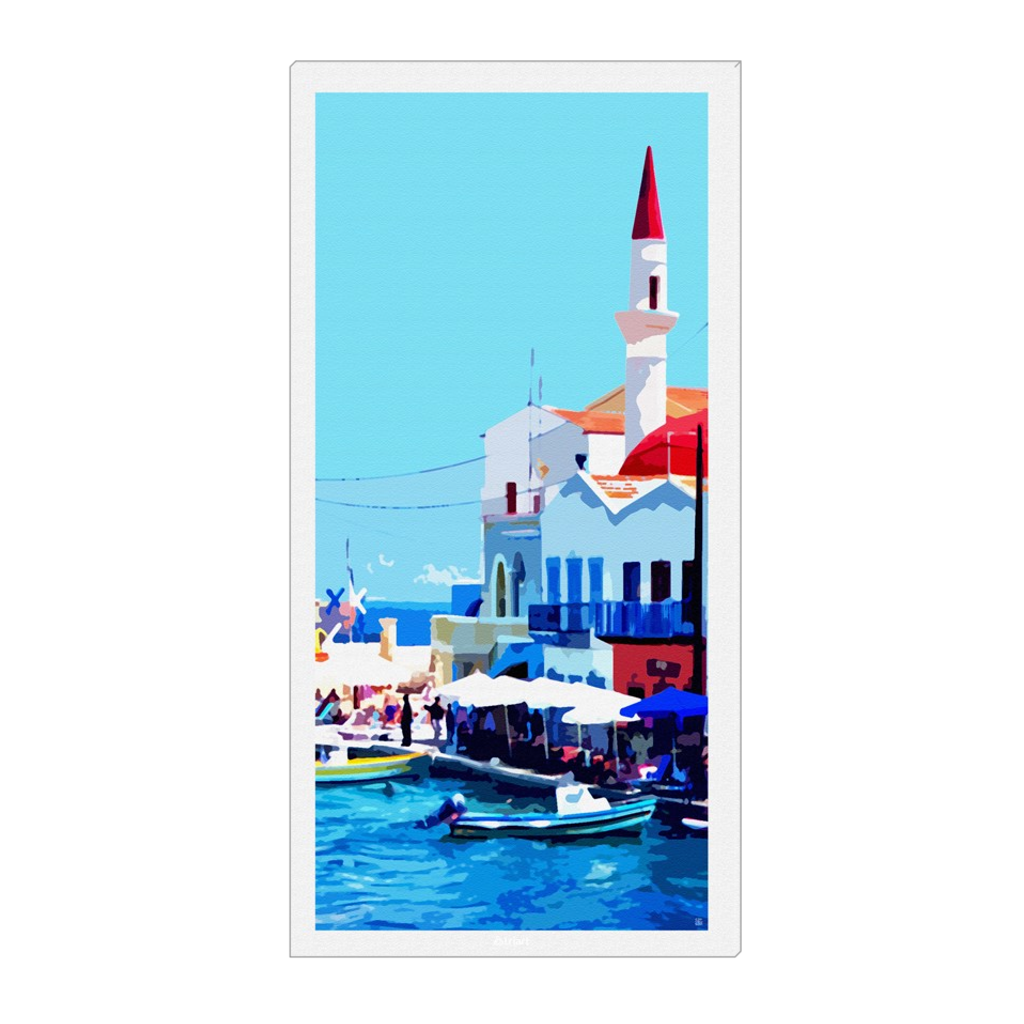 Colorful Kastellorizo - digital art, wall art, canvas wrap, ready to hang