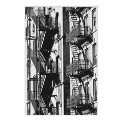 Two Stairs of NY -  New York, NYC, digital art, wall art, canvas wrap, ready to hang