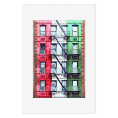 Stairway to Italy - New York, NYC, digital art, wall art, canvas wrap, ready to hang