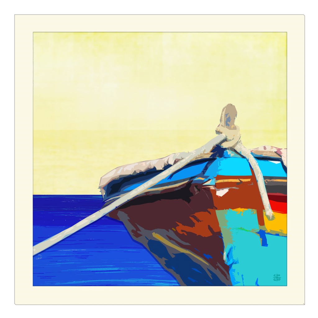 Boat - digital art, wall art, canvas wrap, ready to hang