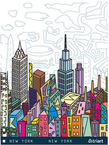 New York City - A unique artistic depiction of the most exciting city in the world | notebook, color