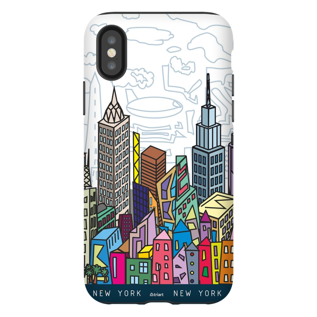 New York City - A unique artistic depiction of the most exciting city in the world | phone case, iPhone X, XS, color