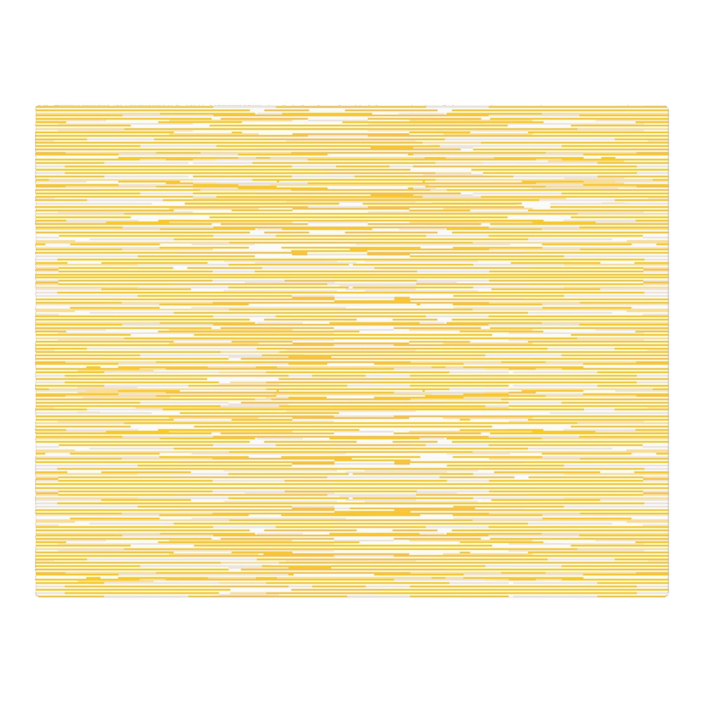 White & yellow lines - woven placemat
