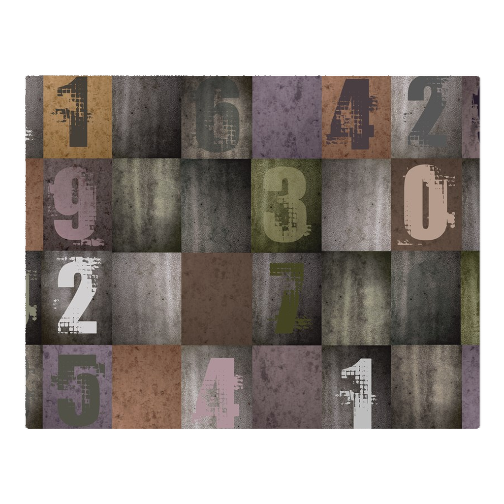 Random numbers colored -woven placemat