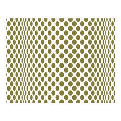 Green circles on a wave - woven placemat