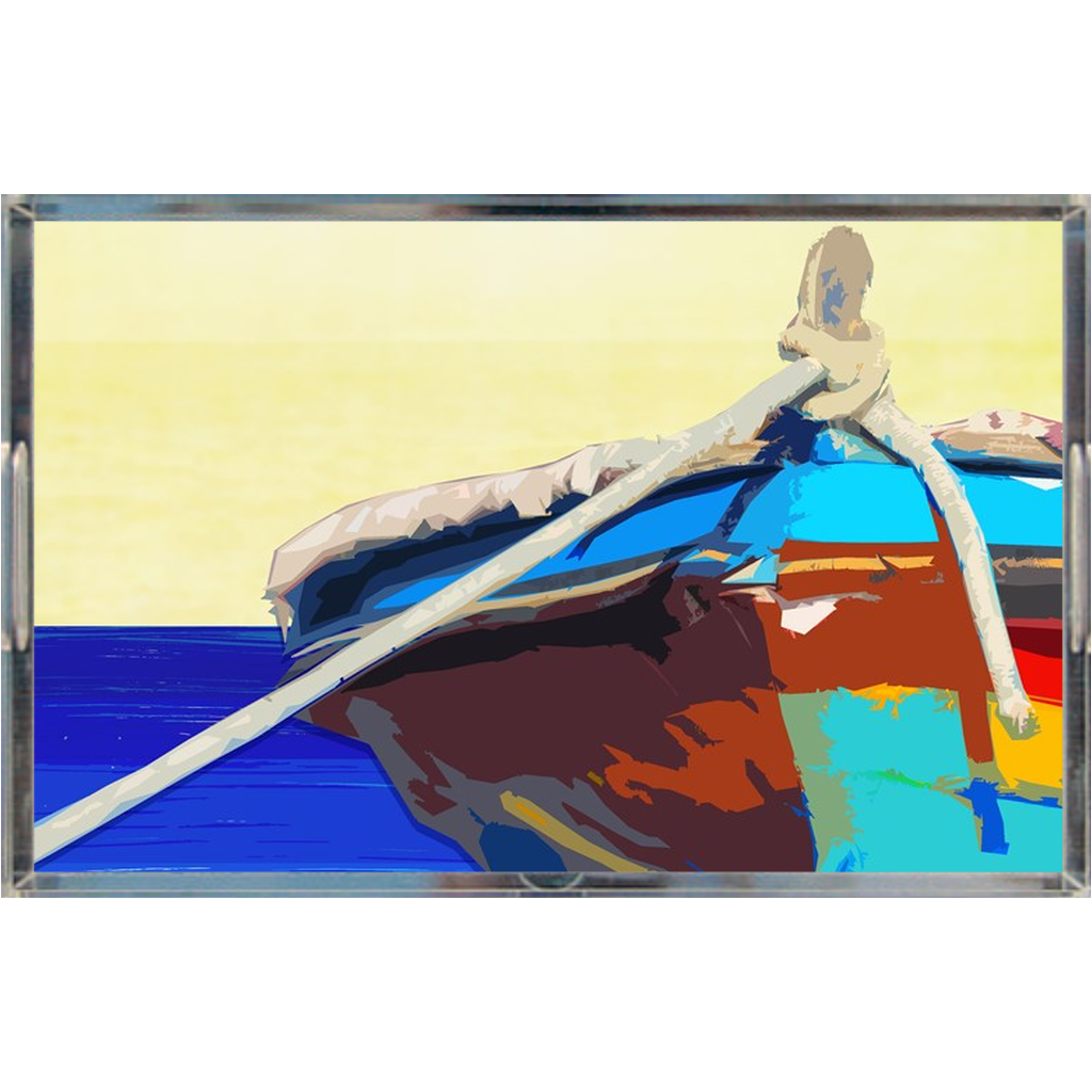 Acrylic tray - Fishing Boat