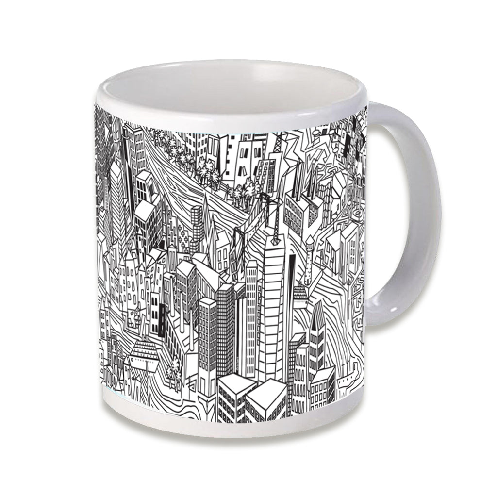 Downtown NYC  - Downtown, New York City, NYC, quality ceramic mug, sports handle, dishwasher and microwave safe
