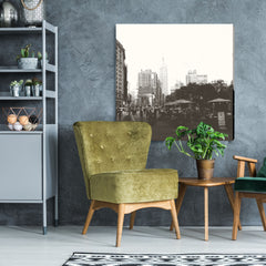 Empire State Building - digital art, wall art, canvas wrap.