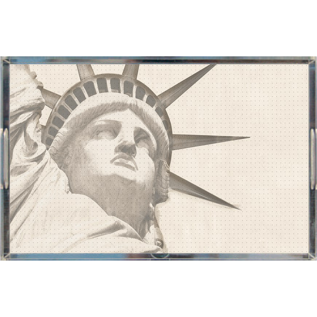 Acrylic tray - Lady Liberty