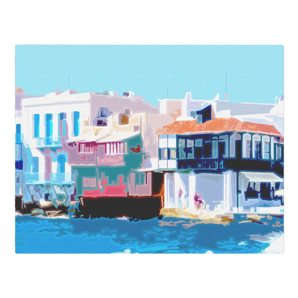 Little Venice in Myconos, Greece - woven placemat