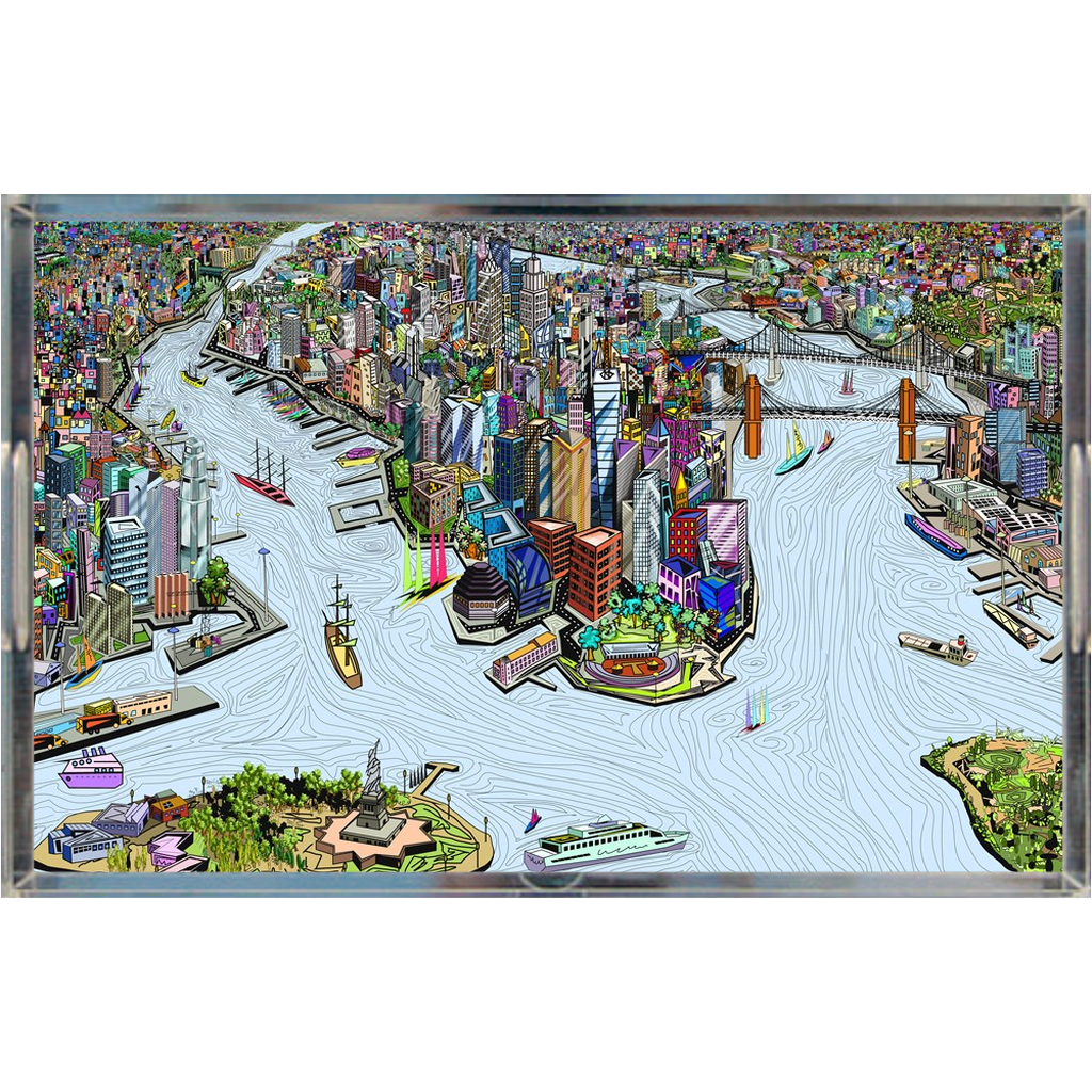 Acrylic Tray - NYC southwest in color