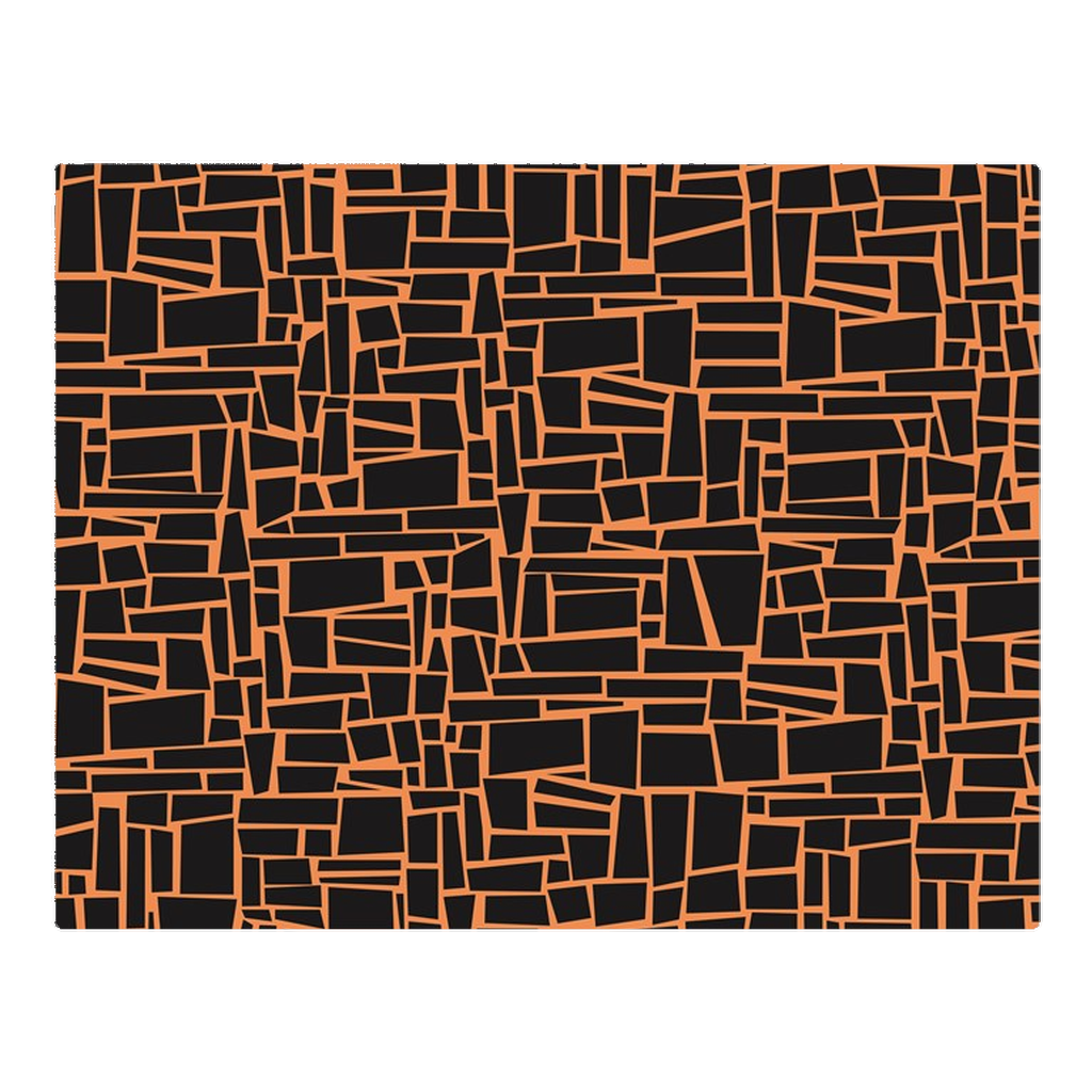 Traditional black & orange - woven placemat