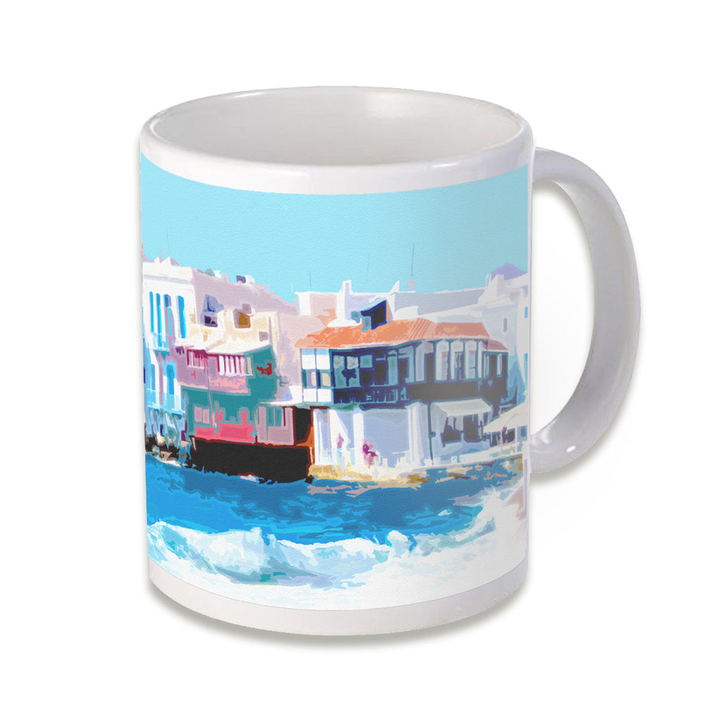 Little Venice - Little Venice, Myconos, Greece, classic white mug, quality ceramic, comfortable handle