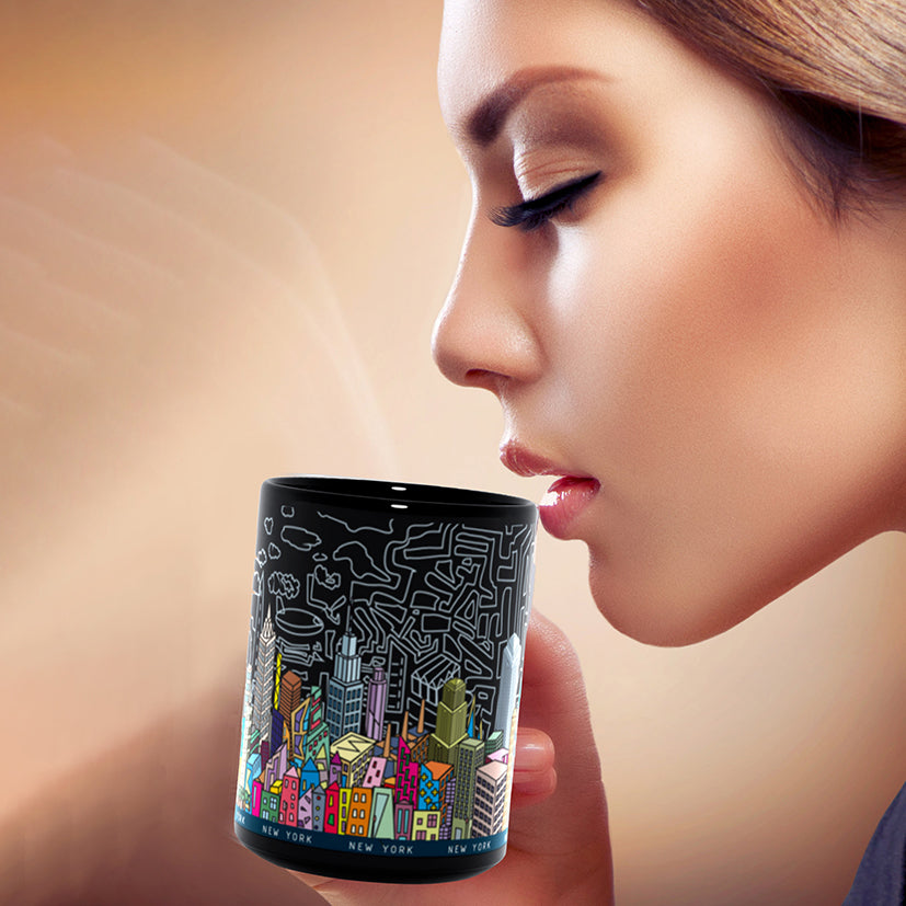 New York City - A unique artistic depiction of the most exciting city in the world | mug 11oz, color