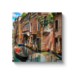 Gondola and mansions - canvas wrap