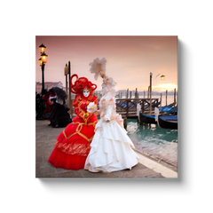 Dancing by the water in Venice - canvas wrap