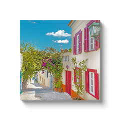 Colorful alley of Plaka - canvas wrap