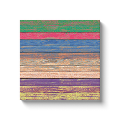 Wooden rainbow - canvas wrap