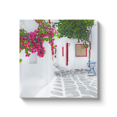 Myconian bougainvilleas - Myconos, Greece - canvas wrap
