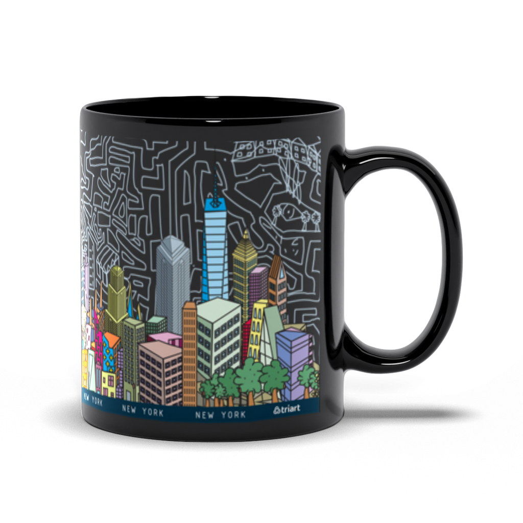 Mug 11oz NYC abstract color