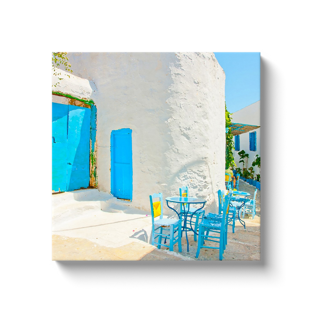 I love Greece and the Cyclades - beautiful white and blue - canvas wrap