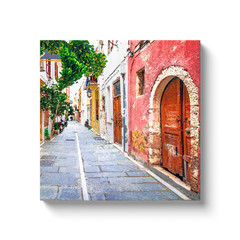 Rodian mediaval alley - Rhodes, Greece - canvas wrap