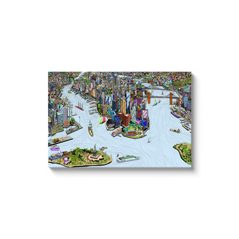 New York City - A unique artistic depiction of the most exciting city in the world | canvas wrap, color, ready to hang
