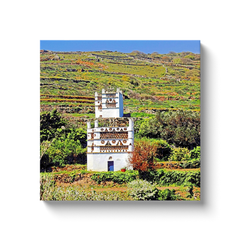 Pigeon house in the field - Tinos, Greece - canvas wrap