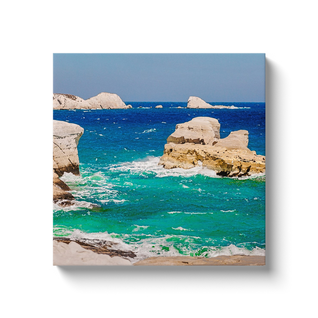 Blue rocks - Aegean Sea, Greece - canvas wrap