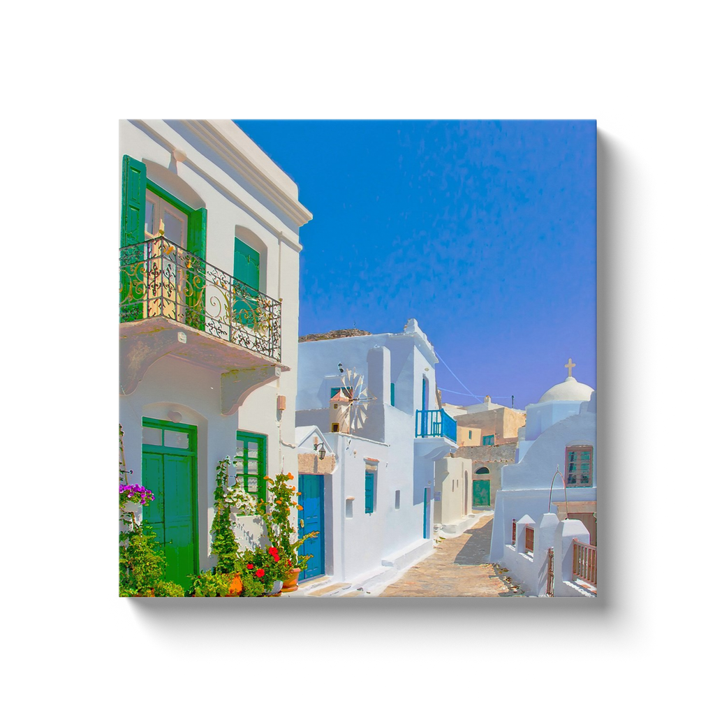 I love Greece and the Cyclades - beautiful colors of the Aegean - canvas wrap