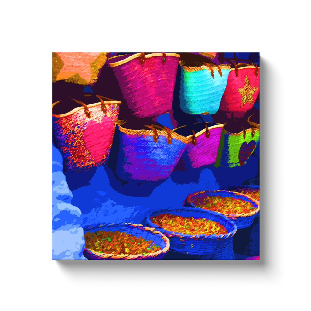 Spices & colors - Morocco - canvas wrap