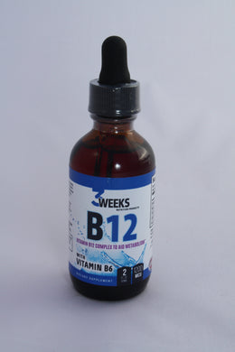 B-12 Drops 1200 MCG 2Fl OZ 60ML Bottle