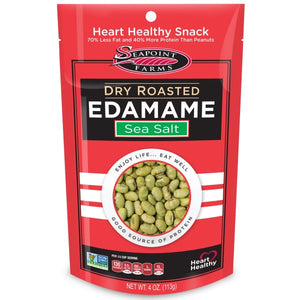Seapoint Farms Dry Roasted Edamame Sea Salt- Snack Size 1oz Packet