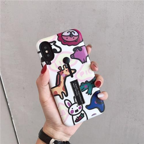 Dino Case for iPhone 6/7/8/X/Xs/Xs Max/Xr - Pink Panda
