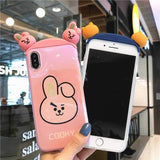 Line Friends Collection for iPhone 6/7/8/X/XS/XS Max/XR - Pink Panda Store