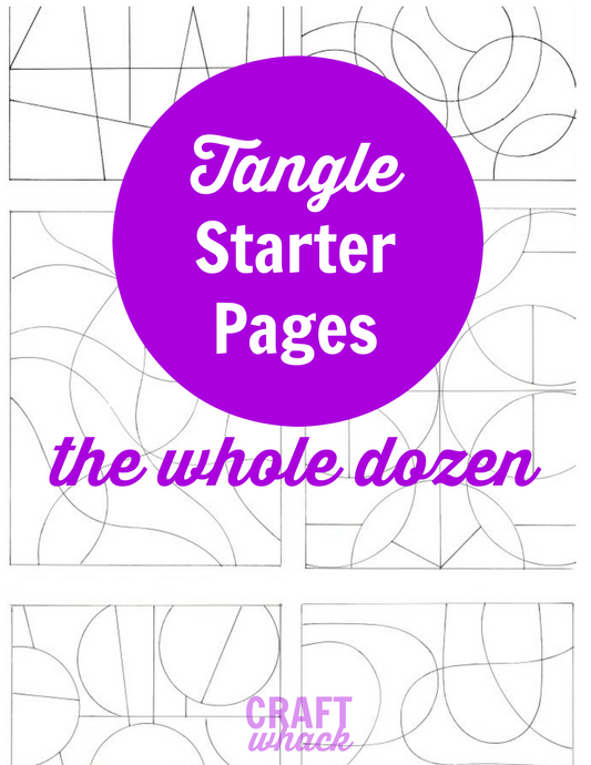 Tangle Starter Pages 12-Pack