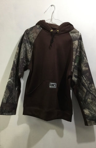Dans Briar Hoodie Pull-Over Sweatshirt Brown Camo Front