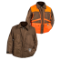 Dans Briar Proof Game Hunting Coat Brown Orange