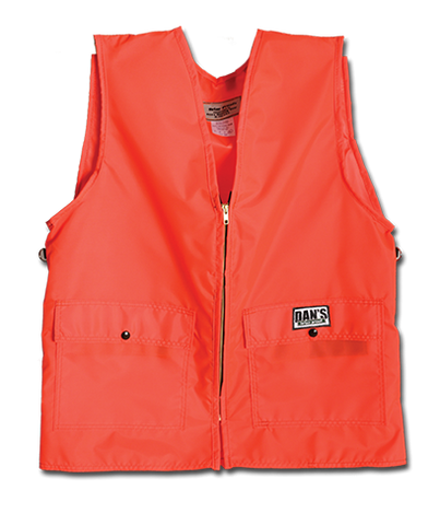 Dan's Heavy Duty Blaze Orange Briarproof Vest