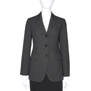 Sisley Made in Italy 3 Button Front Blazer Business Career, Charcoal, Sz 38 EUC