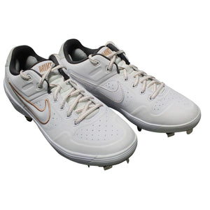 Nike Women's Alpha Huarache Elite 2 Softball Cleats, White Gold, Sz 9 NEW $90