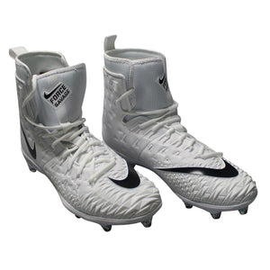 Nike Force Savage Elite TD Cleats Football, White Black, Size 17 NEW $140