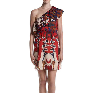 Philosophy by Republic Clothing Printed One Shoulder Dress, Size Small NWT $108