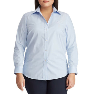 Lauren Ralph Lauren Plus Size Non Iron Button Down Shirt, Size 1X NEW $90