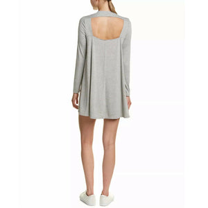 Re:named Cutout Back Knit Shift Dress - Long Sleeve, (Size Small) NEW