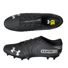Under Armour Men's Nitro Low MC Football Cleats, Black White, Size 15 NEW $80