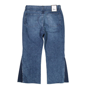 3X1 High Ground Gusset Crop Jeans in Elvia, Anthropologie, Size 31 NWOT $265
