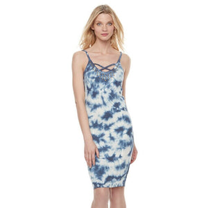 Rock & Republic Studded Tie-Dye Tank Dress, Size Medium NEW $58