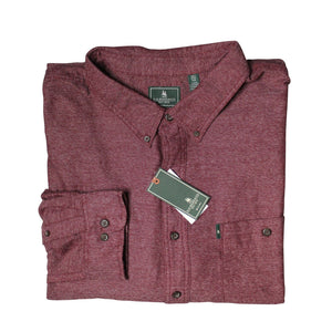 G.H. Bass & Co. Fireside Flannel, Tawny Port, Size 3XL NWT $64